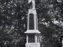 Palackého sady - památník píseckého pěšího pluku č. 11 - r. 1916