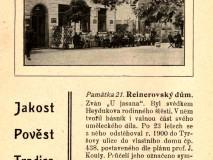 Palackého sady - restaurace U Reinerů