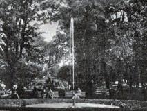 Palackého sady - vodotrysk  - počátek 20. stol.